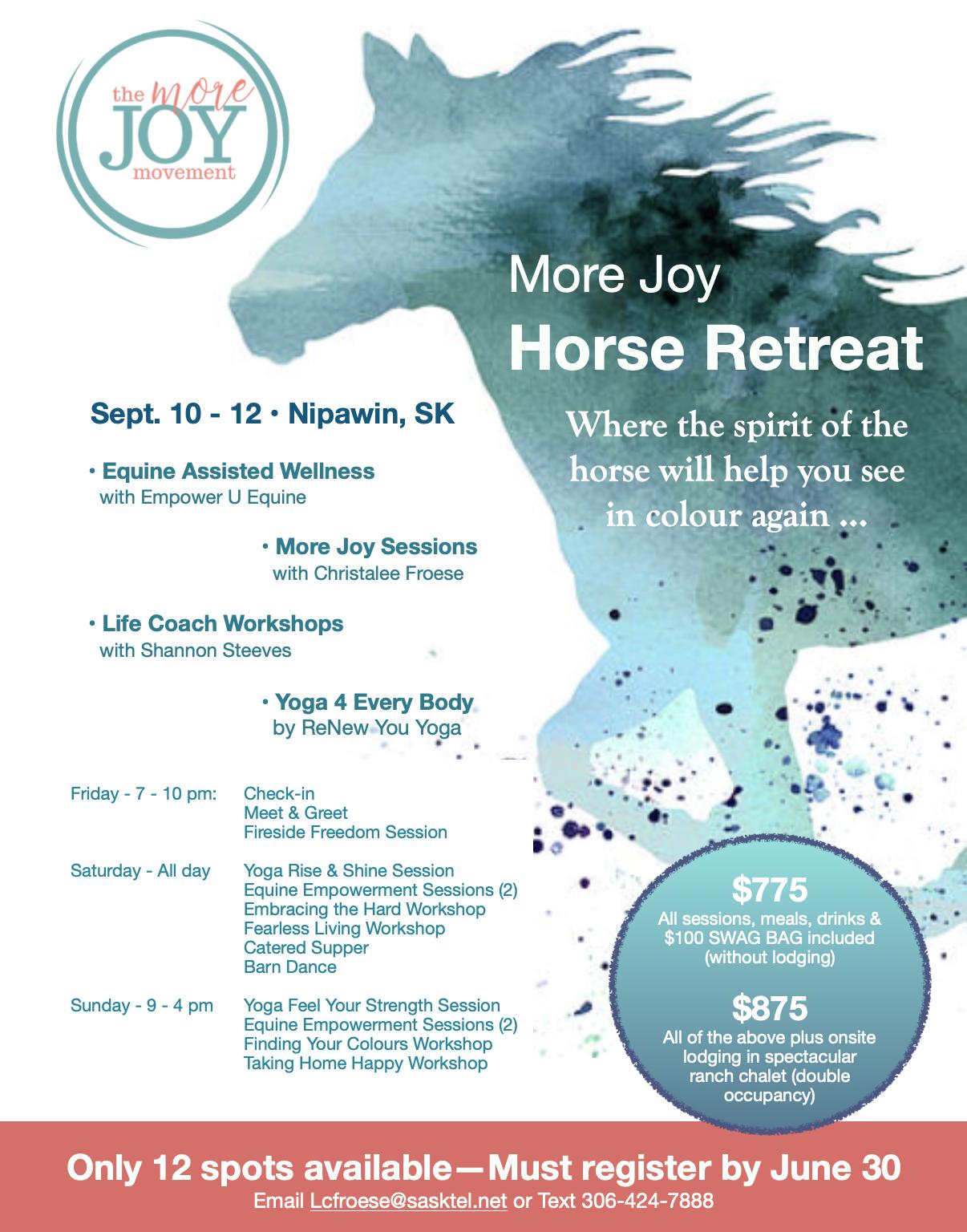 More Joy Horse Retreat Deposit